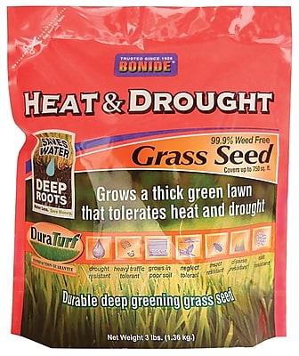 Bonide 60251 Heat & Drought Grass Seed, 3 lbs.