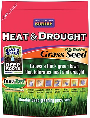 Bonide 60257 Heat & Drought Grass Seed, 20 lbs