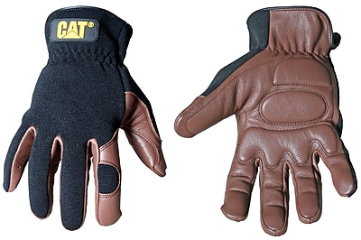 Cat Gloves CAT012216J Brown Leather, Jumbo