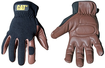 Cat Gloves CAT012216L Brown Leather, Large