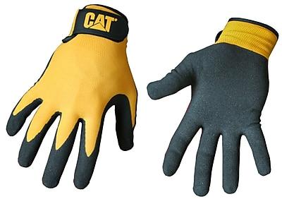 Cat Gloves CAT017416M Yellow Nylon, Medium