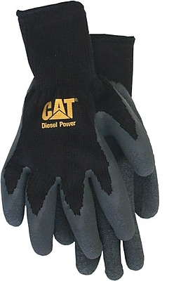 Cat Gloves CAT017400M Black Poly/Cotton, Medium