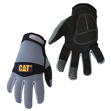 Cat Gloves CAT012213M Gray Neoprene, Medium