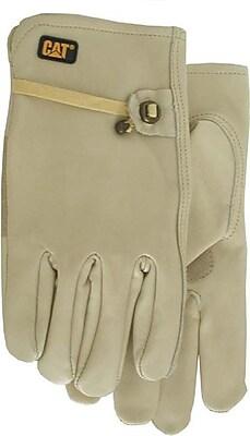 Cat Gloves CAT012110M Gray Leather, Medium