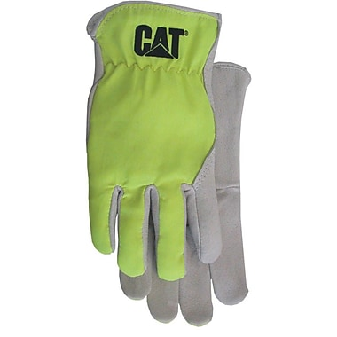 Cat Gloves CAT012109L Gray Leather, Large