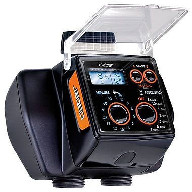 Claber 8488 Dual Select Digital Water Timer, Black