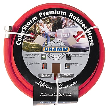 Dramm 10-17001 ColorStorm Premium Rubber Hose, Red