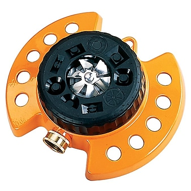Dramm Corporation 15022 ColorStorm Nine Pattern Turret Sprinkler, Orange