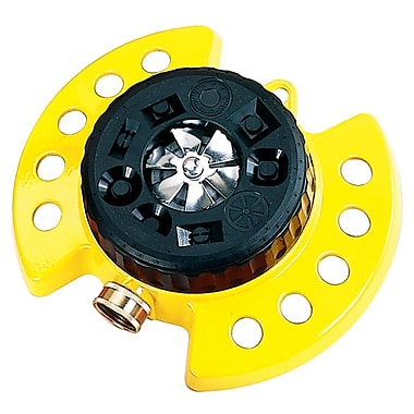 Dramm Corporation 15023 ColorStorm Nine Pattern Turret Sprinkler, Yellow