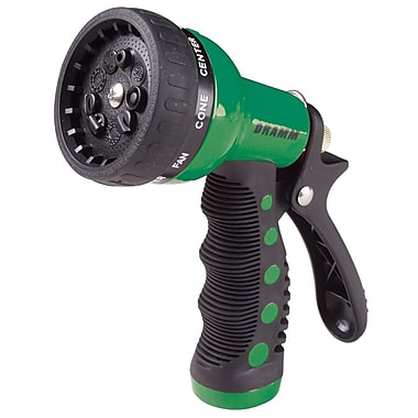 Dramm 80-12704 9 Pattern Revolver Spray Gun Nozzle, Green