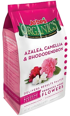Jobes 09826 Organic Azalea Camellia and Rhododendron Granular Fertilizer, 4 lbs.
