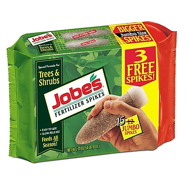 Jobes 01610 Granular Tree Fertilizer Spikes, 15 Pack