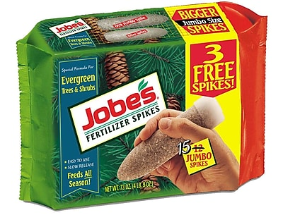 Jobes 01611 Granular Evergreen Fertilizer Spikes, 4.5 lbs.