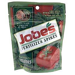 Jobes 6005 Granular Tomato Fertilizer Spikes, 18 Pack