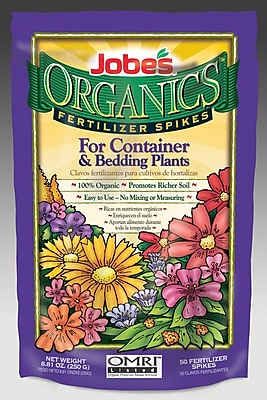 Jobes 06128 Organics Container and Bedding Fertilizer Spikes