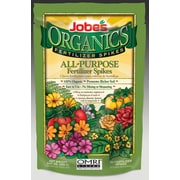 Jobes 06528 Organics All Purpose Fertilizer Spikes, 50 Pack