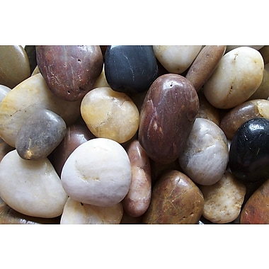 Exotic Pebbles & Aggregates PMS-1030 5 lbs. Polished Pebbles, Mixed