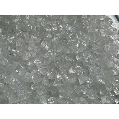 Exotic Pebbles & Aggregates EG02-L01S 2 lbs. Glass Pebbles, Clear