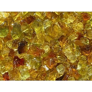 Exotic Pebbles & Aggregates EG02-L06S 2 lbs. Glass Pebbles, Chestnut