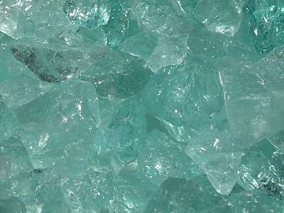 Exotic Pebbles & Aggregates EG02-L07S 2 lbs. Glass Pebbles, Aqua
