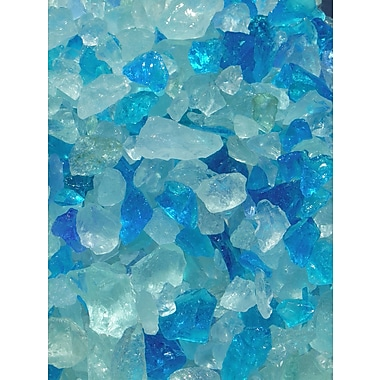 Exotic Pebbles & Aggregates EG02-L08S 2 lbs. Glass Pebbles, Blue