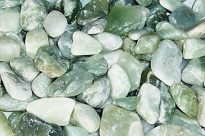 Exotic Pebbles & Aggregates PJS-1030 5 lbs. Polished Pebbles, Jade