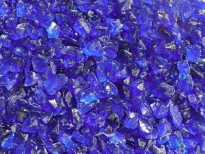 Exotic Pebbles & Aggregates EG10-L05 10 lbs. Glass Pebbles, Ocean Blue