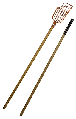 Flexrake LRB189 9' Fruit Picker with 2 Piece Wood Handle