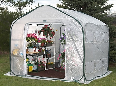 Flowerhouse FHFH700 8'H x 9'W x 9'D Farm House Easy Pop-Up Greenhouse