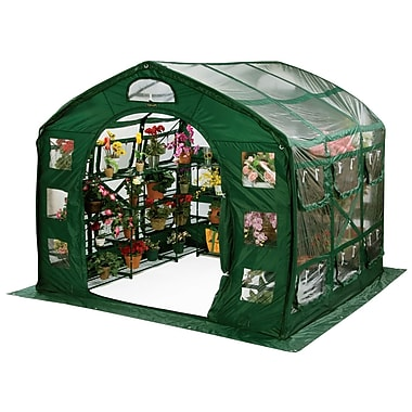 Flowerhouse FHFH700CL 8'H x 9'W x 9'D FarmHouse Clear