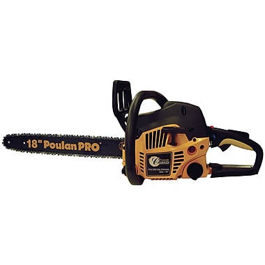 Poulan 967185102 42cc 2 Cycle Engine Gas Powered Chain Saw with Case