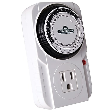 Hydrofarm TM01015 24 hr Single outlet Grounded Timer