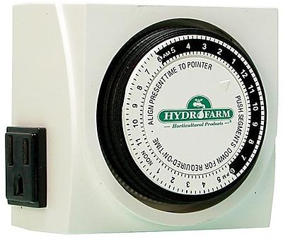 Hydrofarm TM01015D 24 hr Dual Outlet Grounded Timer