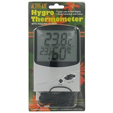 Hydrofarm THMM0020 Active Air Hygro Thermometer
