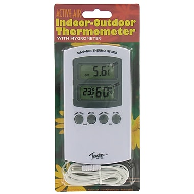 Hydrofarm HGIOHT Indoor-Outdoor Thermometer With Hygrometer