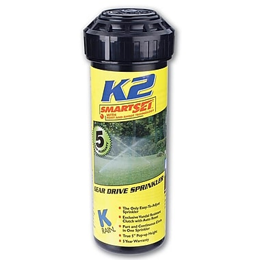K Rain 91031 K2 Smartset Pop-up Gear Drive Rotating Sprinkler