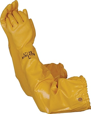 Atlas WG772M Yellow Nitrile, Medium