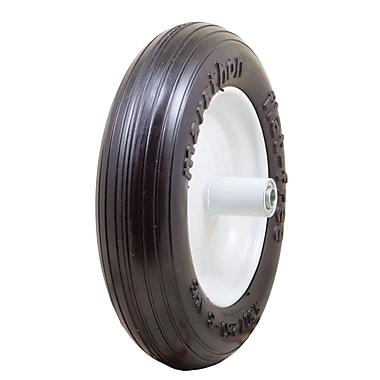 Marathon Industries 00003 Ribbed Flat Free Wheelbarrow Tire, 13