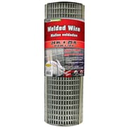 "Midwest Air Technologies 309301A 1/2"" Mesh Galvanized Welded Mesh Fence, 24"" x 25'"