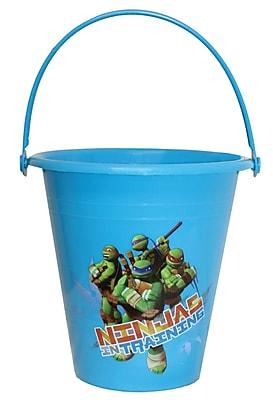Midwest Quality Glove TM8K Kids Plastic Gardening Bucket, Ninja Turtles