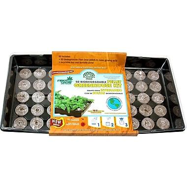 Planters Pride RZG00501 50 Fiber Grow Pellets Greenhouse Kit, Brown
