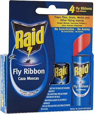 Raid FR3-RAID Fly Catcher Ribbon, 4 Count