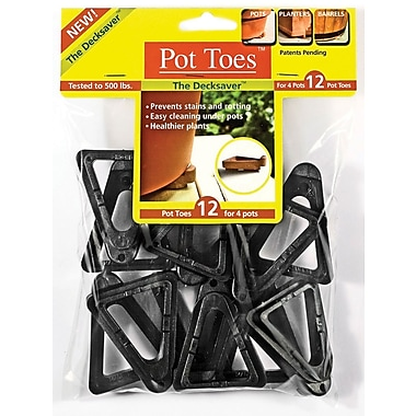 Plantstand PT-12BLHT Pot Toes, Black