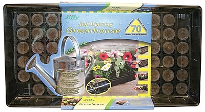 Jiffy T70H 70 Cell Self Watering Greenhouse, Black