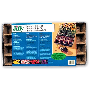 Jiffy TS32 Strips 'N Tray, Brown