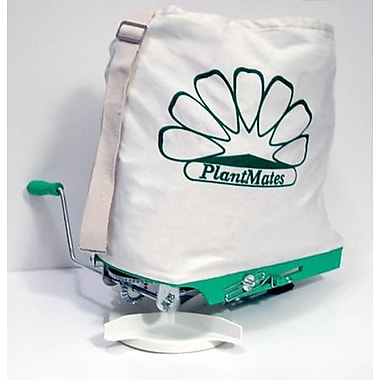 Plantmates 76300 Green Broadcast Spreader with White Canvas Bag