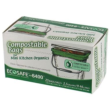 Presto GKL032195 Drawstring Kitchen Trash Bag, 2.5 Gallon Bags, 25 per Carton