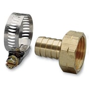 "Nelson 50454 3/4"" Female Hose Repair With Worm Gear Clamp"