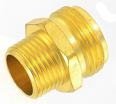 Gilmour 7MH7MP5P Double Male Hose Connector 1259300
