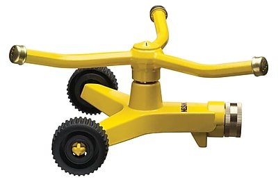 Nelson 50231 Three Arm Rotatory Sprinkler, Yellow